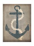 Nautical Anchor Vertical Gray