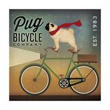 Pug on a Bike no Flowers