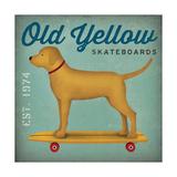 Golden Dog on Skateboard no Words