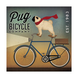 Pug on a Bike Indigo