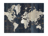 Old World Map Blue Crop Reproduction d'art par Wild Apple Portfolio