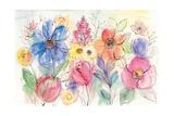 Bright Aquarelle Flowers