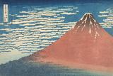 South Wind, Clear Sky Giclée par Katsushika Hokusai