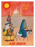 Middle East - Air India - Maharaja with Burka Veiled Woman