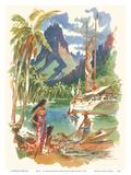 Tahiti - SS Matsonia Menu Cover - Matson Line (Matson Navigation Company)