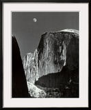 Moon and Half Dome  Yosemite National Park  1960