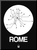 Rome White Subway Map