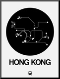 Hong Kong Black Subway Map