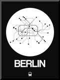 Berlin White Subway Map