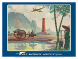 Asia - Wings Over the World - Pan American Airways System - Chinese Pagoda