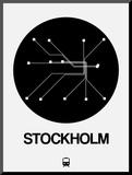 Stockholm Black Subway Map