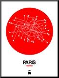 Paris Red Subway Map