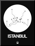 Istanbul White Subway Map