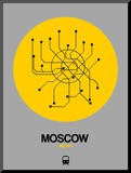 Moscow Yellow Subway Map