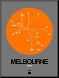 Melbourne Orange Subway Map
