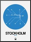 Stockholm Blue Subway Map