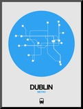 Dublin Blue Subway Map