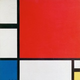 Composition II in Red, Blue, and Yellow Reproduction d'art par Piet Mondrian