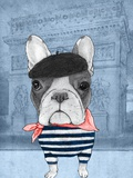 French Bulldog with Arc de Triomphe Reproduction d'art par Barruf