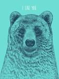 I Like You Bear Reproduction d'art par Rachel Caldwell