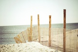 Wooden Beach Fence