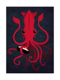 Kraken Attaken Reproduction d'art par Michael Buxton