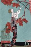 Illustration de mode, 1914 Reproduction d'art par Georges Barbier