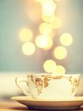 Tea Cup in Cold Bokeh