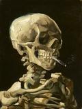 Crâne à la cigarette Reproduction d'art par Vincent Van Gogh