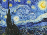 La nuit étoilée Reproduction d'art par Vincent Van Gogh