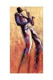 Sax Solo Reproduction d'art par Monica Stewart