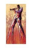 Trumpet Solo Reproduction d'art par Monica Stewart