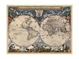 Nova et Accuratissima Totius Terrarum Orbis Tabula Reproduction d'art par Joan Blaeu