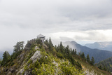 A Fire Lookout Tower In The North Cascades Of Washington On A Cloudy Afternoon