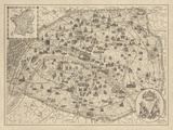Rustic Paris Map
