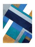 Stipe Overlay Blue Reproduction d'art par Jace Grey
