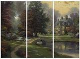 Lakeside Manor Tableau multi toiles par Thomas Kinkade