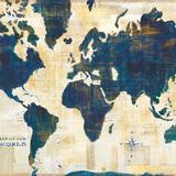 World Map Collage v2 Reproduction d'art par Sue Schlabach