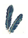 Gold Feathers IV Indigo Crop
