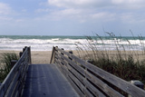 Boardwalk on the beach  Nokomis  Sarasota County  Florida  USA