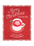 Chalkboard Christmas Signs IV on Red