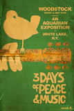 Woodstock - Collage (Teal) Reproduction d'art