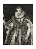 Portrait of Robert Cecil  1st Earl of Salisbury (1563-1612)  from 'Lodge's British Portraits'  1823