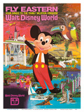 Walt Disney World - Fly Eastern Airlines - Orlando, Florida Reproduction d'art par Pacifica Island Art
