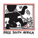 Free South Africa, 1985 Reproduction d'art par Keith Haring
