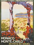 Monte Carlo, Monaco Giclée par Roger Broders