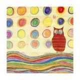 Feathers, Dots & Stripes IV Giclée premium par Ingrid Blixt