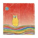 Feathers, Dots & Stripes VI Giclée premium par Ingrid Blixt