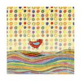 Feathers, Dots & Stripes VII Giclée premium par Ingrid Blixt