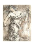 La muse Erato Reproduction d'art par Eustache Le Sueur